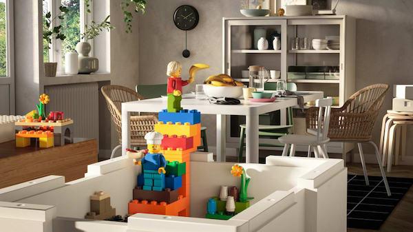 IKEA et Lego lancent une collection de boîtes de rangement pour jeunes enfants