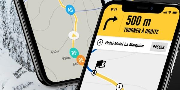 BRP lance une application mobile pour ajouter à ses motoneiges un outil de navigation sur les sentiers