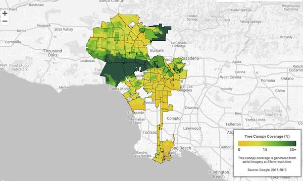 Google planche sur un Google Maps qui aiderait les villes à savoir où planter des arbres