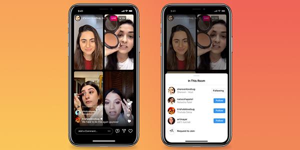 Instagram ajoute à son application des «Live Rooms»: des salles de conférence qui tentent de rivaliser avec Clubhouse