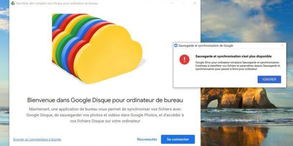 Mise à jour importante: l'appli Google Disque pour ordinateur de bureau