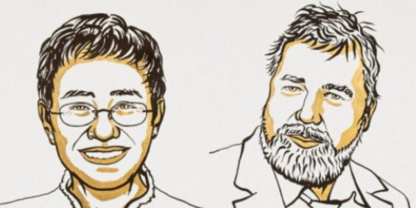 Le prix Nobel de la paix revient à deux journalistes
